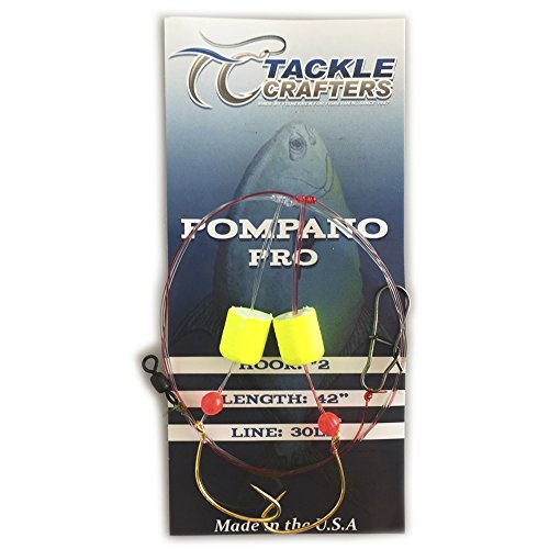 Pro Bait Tackle (Pompano Pro Rig 12 Pack Made In The USA - TACKLE CRAFTERS)