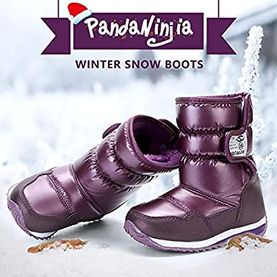 VECJUNIA Boys Thicken Athletic Snow Sports Fashion Sneakers Outdoors Travelling