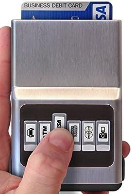 Credit Card Holder Money Clip - Minimalist Front Pocket Wallet, Modern Slim Case Men & Women