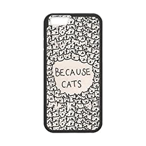 iPhone 6 Protective Case -Because Cats Hardshell Cell Phone Cover Case for New iPhone 6