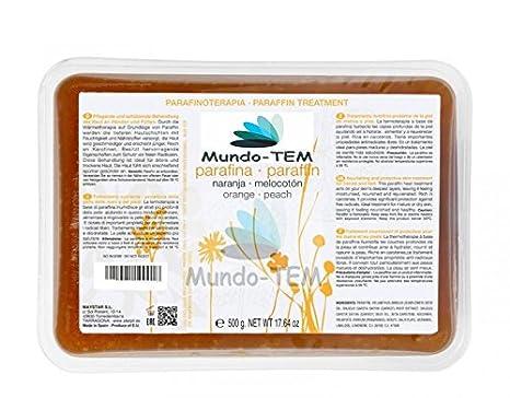 Mundo-tem® - Parafina naranja-melocoton, 8 tarrinas de 500 grs.