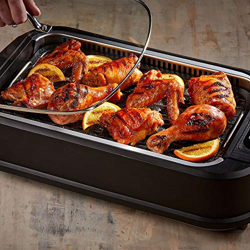 Smokeless Indoor Electric Grill With Tempered Lid & Interchangeable Griddle Plate by Tristar (Image #1)