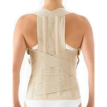 Neo G Dorsolumbar Support Brace - Back Support for Early Kyphosis, Rounded Shoulders, Posture Correction, Muscular Aches, Lumbar Support - Fully Adjustable ...