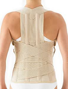 Neo G Dorsolumbar Support Brace - Back Support For Early Kyphosis, Rounded Shoulders, Posture Correction, Muscular Aches, Lumbar Support - Fully Adjustable - Class 1 Medical Device - Medium - Tan