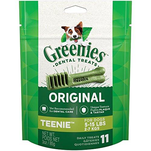Greenies Original Teenie Dog Dental Chews - 3 Ounces 11 Trea
