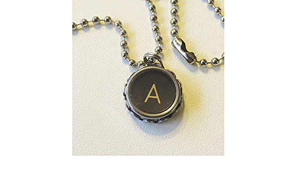 Typewriter Jewelry Upcycled Jewelry Typewriter Necklace Vintage Typewriter Key Necklace Personalized Letter P Necklace Initial Necklace