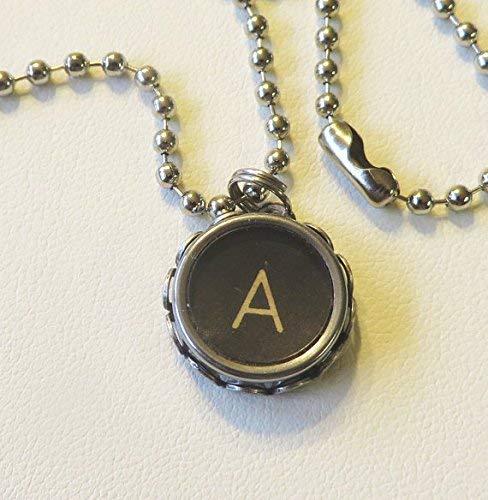antique typewriter key necklace pendant