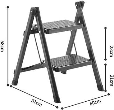 WJYY Muebles pequeña antideslizante Escalera del taburete taburete plegable taburete Stool escalera plegable escalera alta Taburete del pie ajustable Resto plegable del hogar del estante multifunción: Amazon.es: Bricolaje y herramientas
