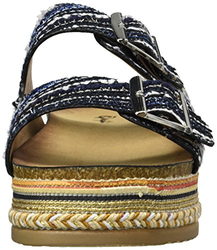 Qupid Women's Wedge Sandal Blue Mutli pick a best cheap price for sale cheap price countdown package online low shipping cheap online low price fee shipping cheap price mdTmhUR7Na