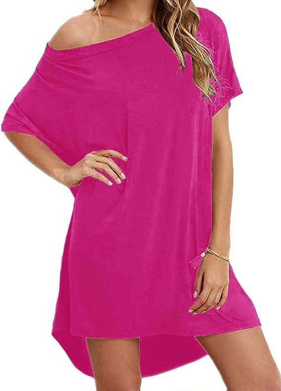 1980s Clothing, Fashion | 80s Style Clothes Women Loose T Shirts Home Short Shirt Mini Dresses Tops  AT vintagedancer.com
