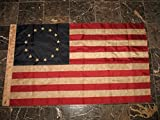 3×5 Embroidered Nylon Tea Stained Historical Betsy Ross Flag Grommets