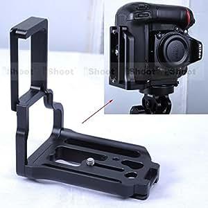 en forma de L ARBUYSHOP extraíble vertical rápida Release Plate soporte de la cámara Grip para Nikon D7100 soporte con una empuñadura cabeza de la bola del trípode