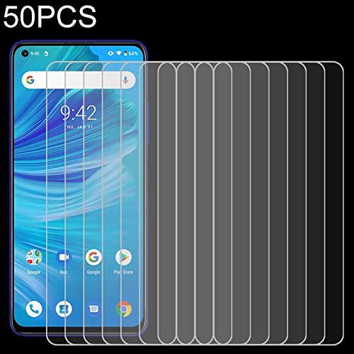 CAIFENG Tempered Glass Film Screen Protector 50 PCS 0.26mm 9H 2.5D Tempered Glass Film for UMIDIGI F2 Anti-Scratch
