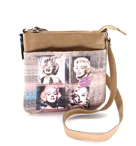 Marilyn Monroe MM2121TP Cross Body Bag, Taupe