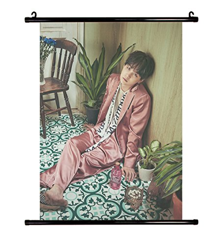 Fanstown Kpop BTS Bangtan Boys Wings wall scroll cloth poster with lomo card 020