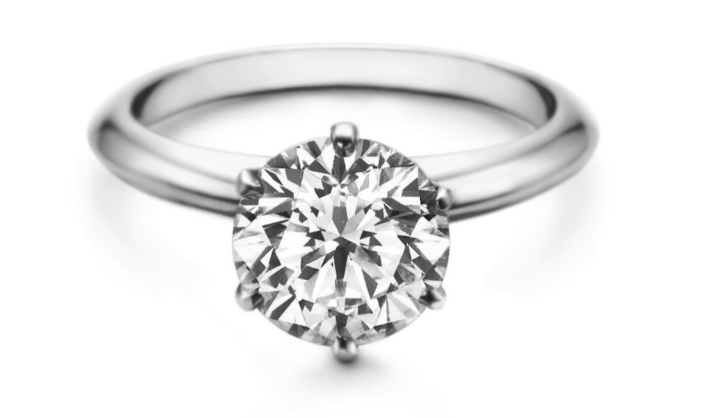 Lourve 14k White Gold Plated 925 Sterling Silver Engagement Ring Round Cut CZ Simulated Diamond 6 Paws (5.5, cubic-zirconia)