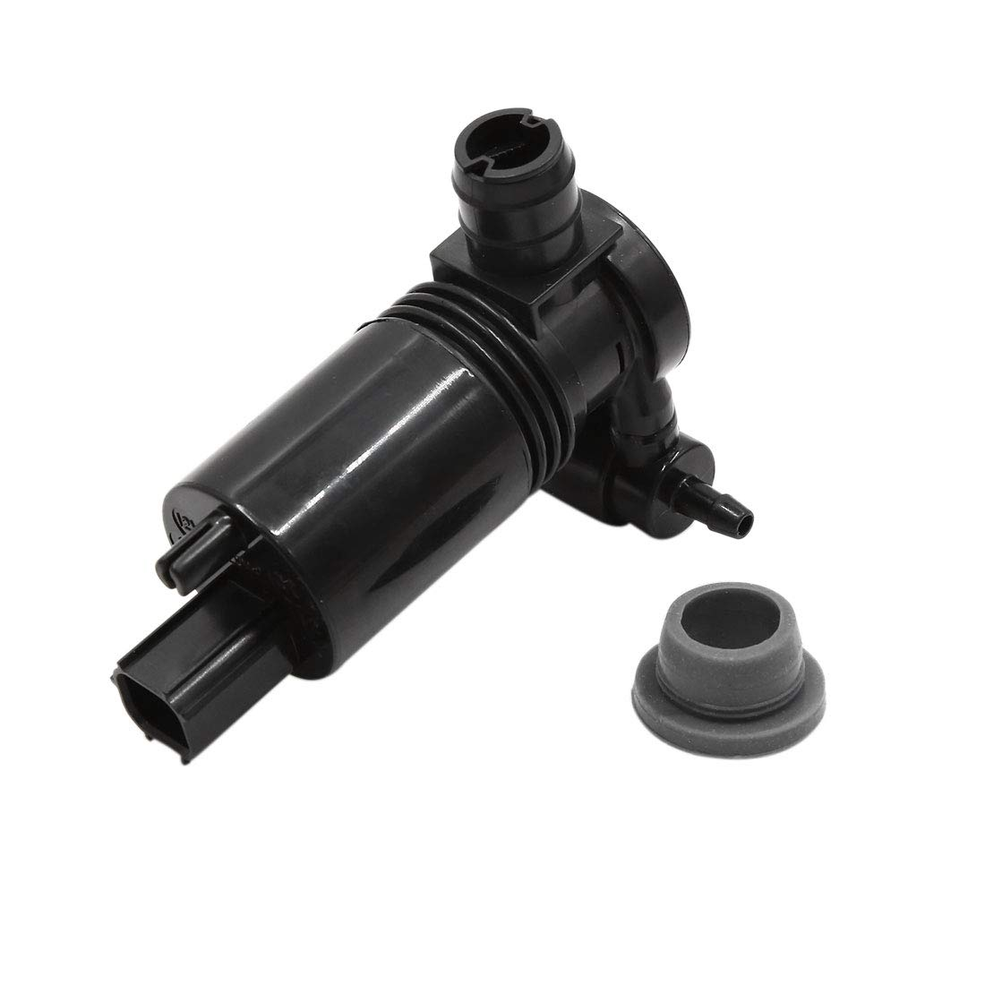 uxcell 2 Terminals Black Front Windshield Windscreen Washer Pump Motor for Chrysler