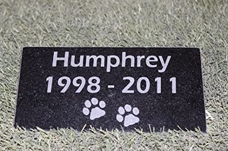 Graphicrocks Sandblast Engraved Granite Pet Memorial Stone Headstone Grave Marker Dog Cat Ndp 4 Inches X 8 Inches