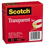 Transparent Tape 600 2P34 72, 3/4'''' x 2592'''', 3'''' Core, Transparent, 2/Pack, Sold as 2 Roll
