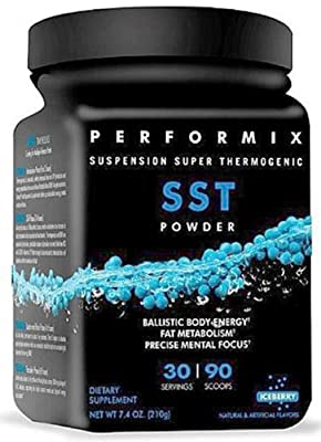 Performix - SST Suspension Super Thermogenic Powder - Net Wt 7.4 oz - 30 Servings - Iceberry flavor