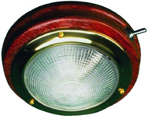 Sea Dog Brass/Teak Dome Light 5 400206-1 - Sea Dog Brass