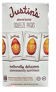 Justin's Almond Squeeze Packs Variety, 18-Pack