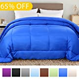 Alternative Comforter - Balichun Hotel Collection 1800 Series - All Season Luxury Duvet Insert Goose Down Alternative Quilted Comforter with Corner Tabs - Hypoallergenic, King/Cal King, Royal Blue