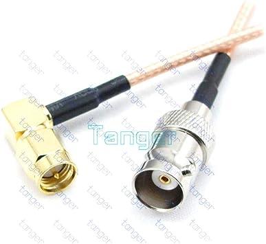 Lufasa BNC - Cable coaxial de coaxial (RG316, 20 cm, Conector ...