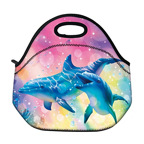 (Lunch Bags Insulated for Women Men Adult Neoprene Cute Tote Waterproof Thermal Reusable Durable Boxes for Work Office Picnic Travel Mom Bag)