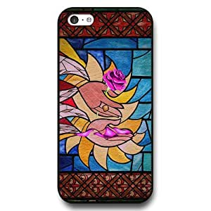 Disney Cartoon Beauty and The Beast, Hard Plastic Case for iPhone 5c - Personalized Disney iPhone 5c Case - Black wangjiang maoyi