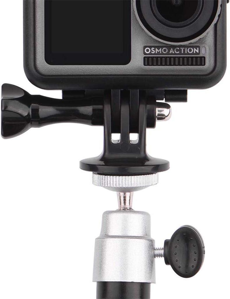 Anti Shake Safety and Flexible Bicycle /& Motorcycle Mount COLNER 360/° Rotate Action Camera Bike Holder Handlebar Metal Cradle for GoPro Hero Xiaomi Yi Garmin
