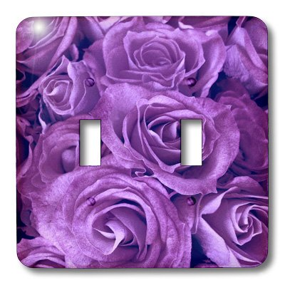 3dRose lsp_29896_2 Close Up Scene Of Dreamy Rich Purple Roses Double Toggle -