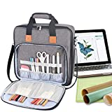 Luxja Carrying Bag for Cricut Accessories and Laptop (Fits for Most Brands), Gray