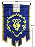 LinkStart Horde Alliance Badge Banner Flag Orc Emblem Poster (Blue)