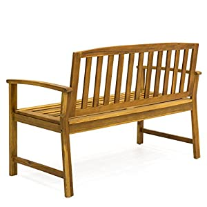 "Best Choice Products Outdoor 48"" Acacia Wood Patio Garden Bench Solid Construction"