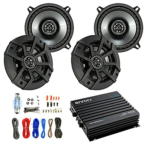 Car Speaker And Amp Combo: 4x Kicker 43CSC5 450-Watt 5-1/4