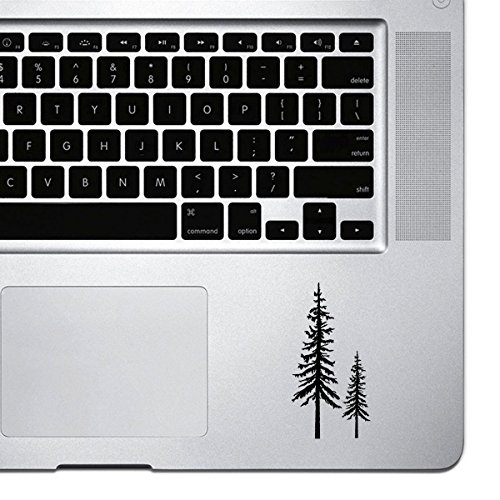 Price comparison product image StickAny Palm Series Redwood Trees Sticker for Macbook Pro, Chromebook, and Laptops (Black)