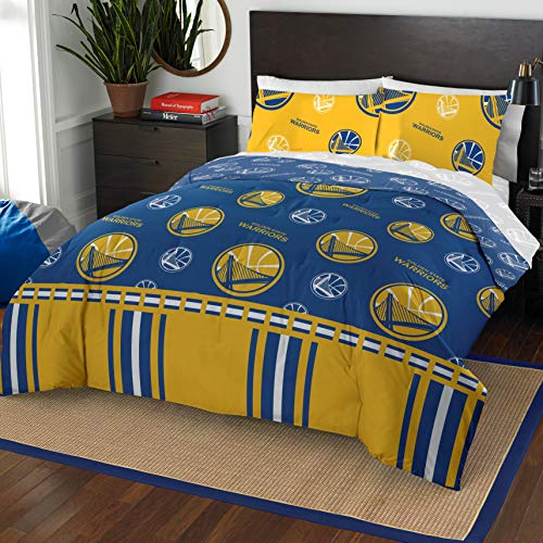 The Northwest Company NBA Golden State Warriors Queen Bed in a Bag Complete Bedding Set - State Set Bedding