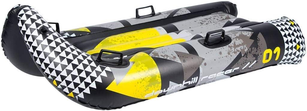 SLED Snow Tube Ride Bobsled Large 57-33 2 Person Downhill Racer restart SNOWGLIDER Thunder Jet