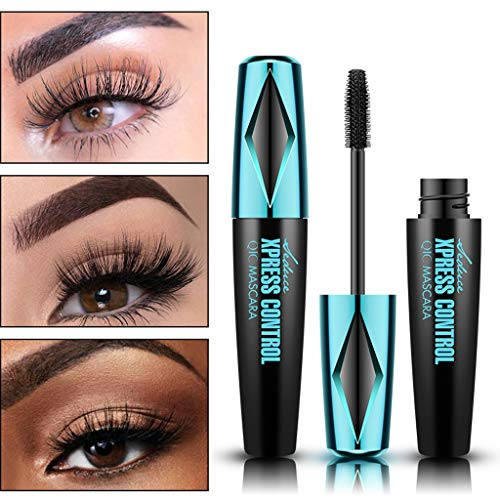 D-XinXin 2019 4D Silk Fiber Lash Mascara Waterproof Natural Thick Thickening and Lengthening Mascara, Long Lasting Charming Eye Makeup Tool Pro (Black)