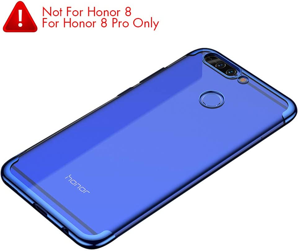 BLUGUL Funda Honor 8 Pro, Electroplating Coloring, Ultra Fina ...