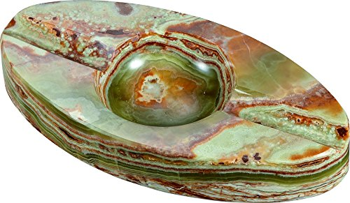 Visol Products Azure Jade Oval Onyx Cigar Ashtray with 2 ()