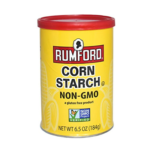 Rumford Non-GMO Corn Starch - Gluten Free, Vegan, Vegetarian, Thickener for sauce, soup, gravy in a Resealable Can - 6.5 oz ()