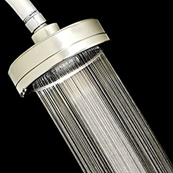 5 Inch Filtered Shower Head - All Metal - Shower Filter that Removes Chlorine and Reduces Dissolved Solids - High Pressure - Helps Dry Hair and Itchy Skin - Best Wall Mount Rain Shower - Chrome