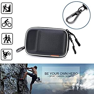 Digital Camera Case Waterproof Hook Portable Carrying Bag Shock Resistant for Sony W800 DSCW800 DSC-HX50V / Canon PowerShot SX720 / NIKON COOLPIX S9900 from Mitsuha