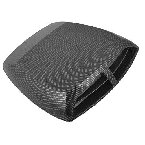 ZYHW Car Air Flow Intake Scoop Vent Cover Hood Check Pattern Black Gray