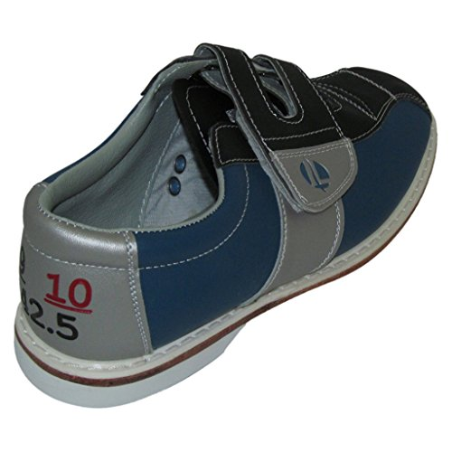Linds Womens Monarch Rental Bowling Shoes- Hook and Loop (8 1/2 M US, Blue/Silver)