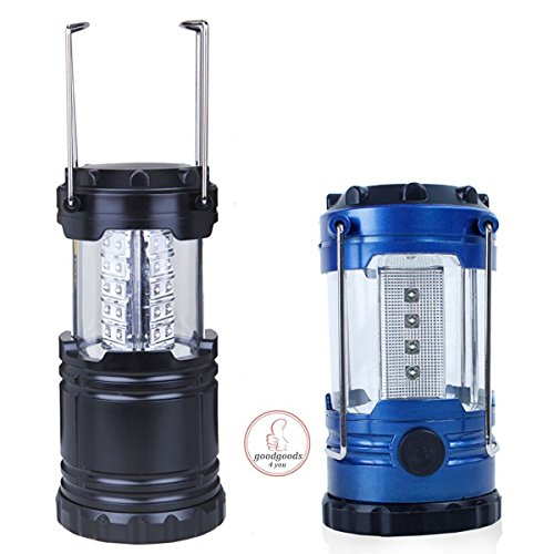 SuBleer 2 Pack Portable Outdoor LED Camping Lantern Flashlights with 6 AA Batteries