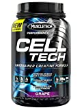 MuscleTech Cell Tech, Hardgainer Creatine Formula, Grape, 3.09 lbs (1.4kg)