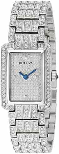 Bulova Women's 96L244  Swarovski Crystal Pave Bracelet Watch